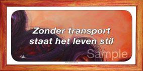 Zonder transport staat het leven stil