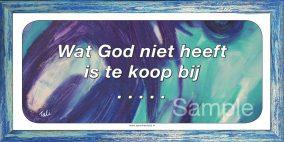 Wat god niet heeft is te koop bij …..