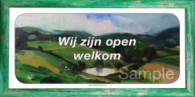 Wij zijn open welkom