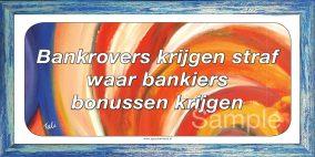 Bankrovers krijgen straf waar bankiers bonussen krijgen
