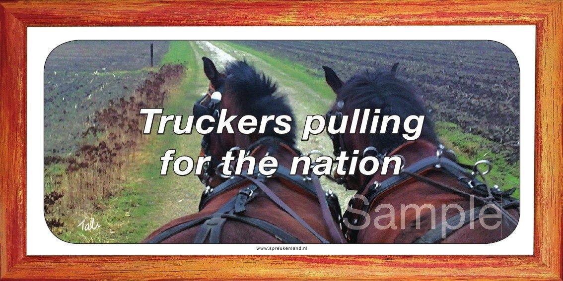 Truckers pulling for the nation